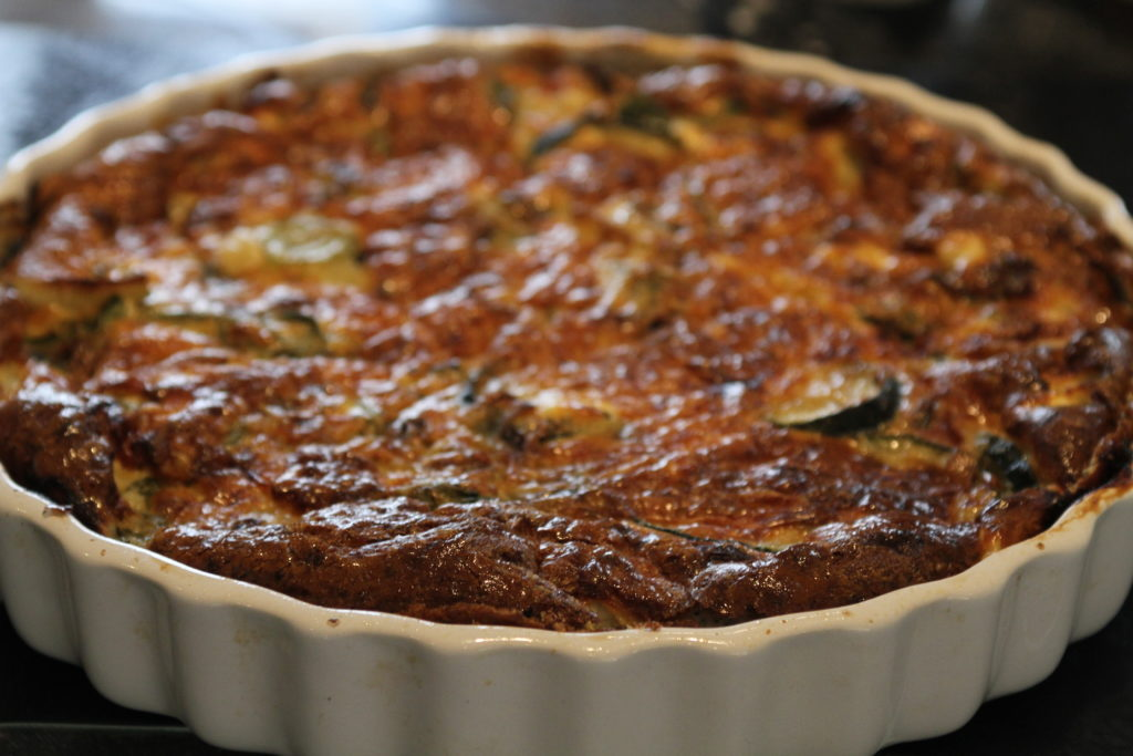 Leek And Goat S Cheese Crustless Quiche