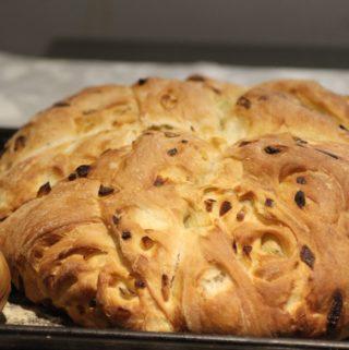 Caramelised onion bread