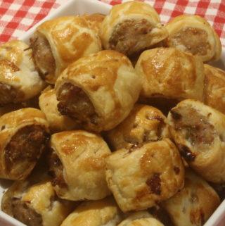 Festive mini sausage rolls
