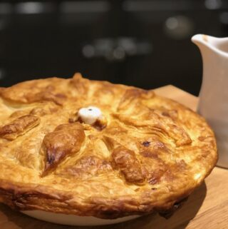 Traditional steak and kidney pie