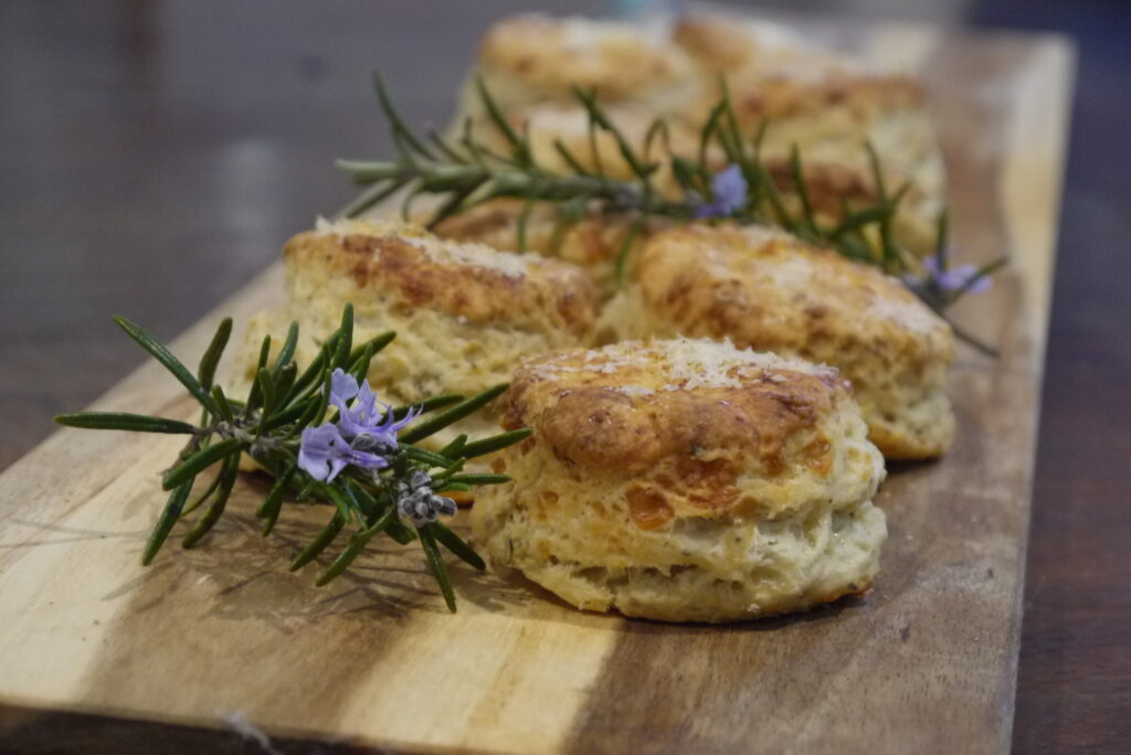 Spicy cheese and herb scones